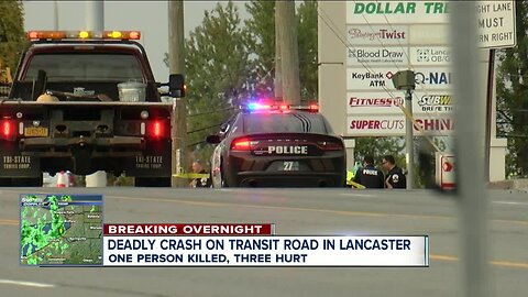 One killed, three injured in crash on Transit Road in Lancaster