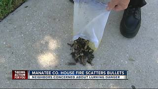 House fire sends live ammo into Bradenton neighborhood - Video