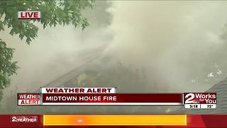 Tulsa house fire - Video