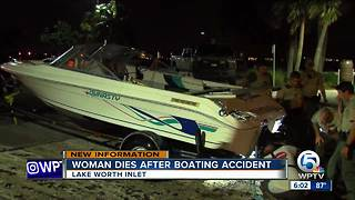 Woman dies after boating accident