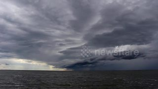 Storm clouds over Lake Manitoba - Video