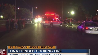 Unattended cooking cause of North Las Vegas fire that killed 3 - Video