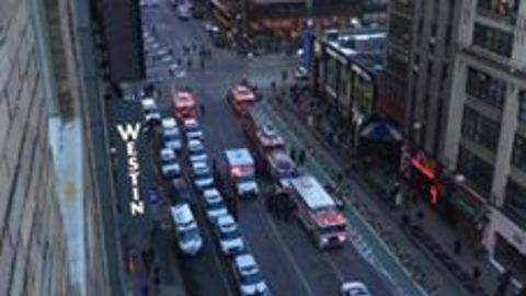 Emergency Services Rush to New York's Port Authority After Explosion