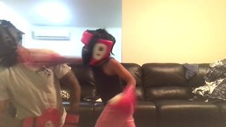 5-year-old girl's intense boxing workout with her dad