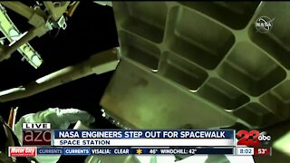 NASA engineers step out for spacewalk