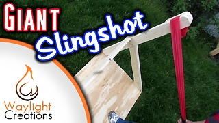 How to make a giant slingshot - Video