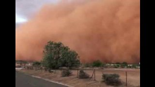 Wall of Dust Envelopes New South Wales Town