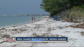 Hurricane Irma caused beach erosion, hidden danger - Video