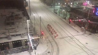Snowfall Blankets Seattle Streets