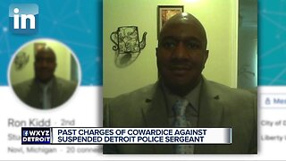 Past charges of cowardice against suspended Detroit police sergeant