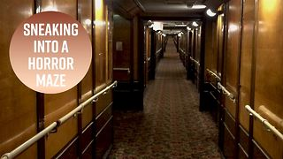 Wanna see a haunted ship's horror maze after hours? - Video