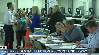 Presidential election recount underway in Milwaukee
