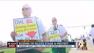 Pilots from Amazon, DHL vendor airlines rally at Cincinnati/Northern Kentucky International Airport