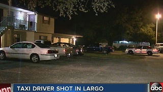 Taxi driver shot in Largo - Video