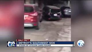 Stolen cars found stashed in Detroit - Video