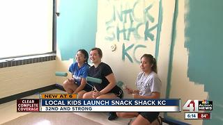 Local kids launch Snack Shack KC - Video