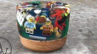 Woodworker Creates Lego Bowl - Video