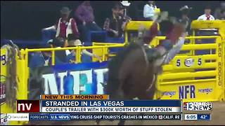 Stranded couple recovers some of stolen NFR horse products - Video