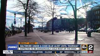 Baltimore declares hypothermia alert amid high winds - Video