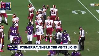 Linebacker Zach Orr set to visit Lions on Thursday - Video