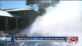 Family brings snow to midtown Tulsa - Video