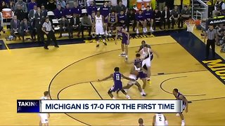 Michigan is 17-0 for the first time in program history