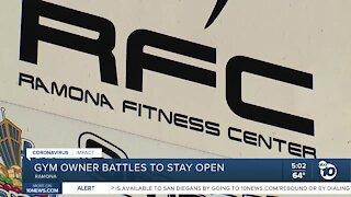 Ramona gym owner battles to stay open despite county health order to close