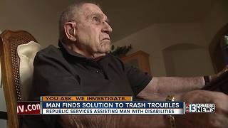 Republic Services to help frustrated Las Vegas senior with trash service