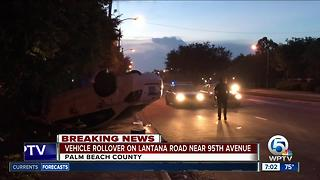 Vehicle rollover on Lantana Road near 95th Avenue - Video