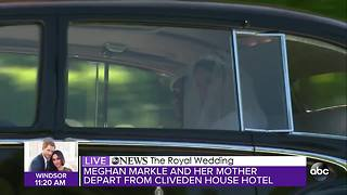 Meghan Markle and her mother leave Cliveden House Hotel and head to St. George's Chapel - Video