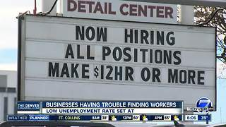 As Colorado's economy thrives, number of 'help wanted' signs grows - Video