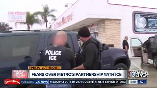 Fears over LVMPD's partnership with ICE - Video