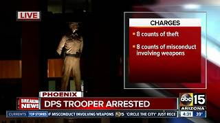DPS trooper arrested on weapons and theft charges - Video
