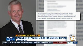 Temecula mayor resigns in light of controversial email