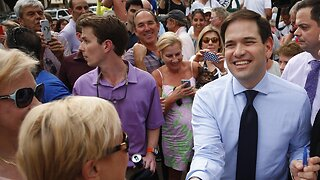 Senator Marco Rubio mocks journalist for noticing his presence at Trump rally