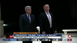 On defensive, Trump declares 'I'm not a racist' - Video