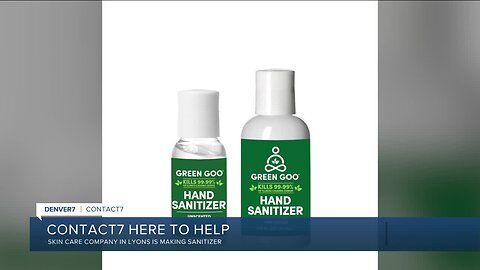 Lyon's company, Green Goo, is shifting manufacturing to sanitizer
