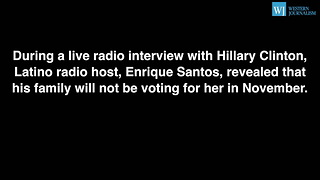 Latino Radio Host Tells Hillary His Family Is Voting For Trump - Video