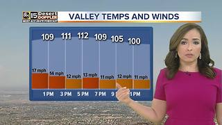 Hot, windy Friday in the Valley - Video