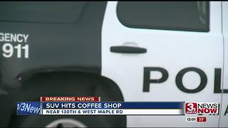 SUV hits Crane Coffee - Video