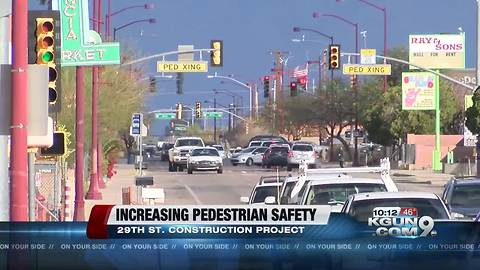 Construction on 29th St. near 8th Ave. will to bring more safety for pedestrians
