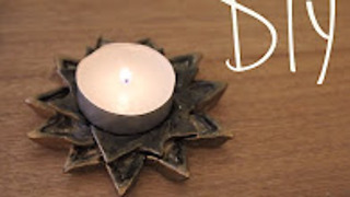 DIY candle and incense holder - Video
