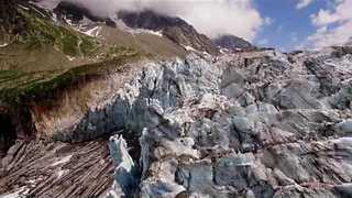 Drone Footage Shows Off Spectacular Glacier