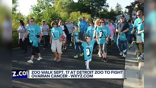 Annual Zoo Walk to fight Ovarian Cancer - Video