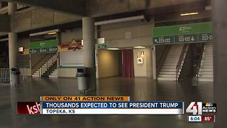 Thousands expected to see President Trump
