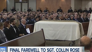 Final farewell to Collin Rose - Video