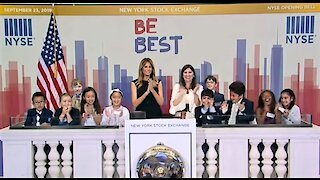 Melania Trump rings opening bell of NYSE ahead of Trump's UN appearance