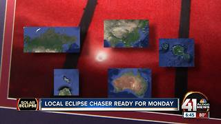 Local eclipse chaser ready for Monday - Video