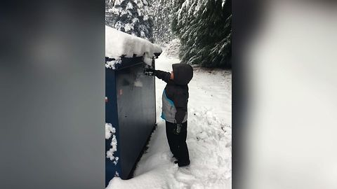 Toddler's Snowy Tumble