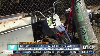 How to save money at Clark County auction - Video